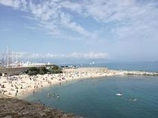 Rivierans badstrand Antibes