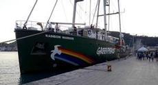 Greenpeace besöker Zakynthos