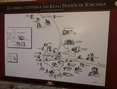 Många fort på Monte Argentario