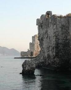 Turkiskt landmärke vid venetiansk fästning