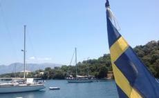 Svenska flaggan på Meganisi