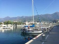 Vår fina hamnplats i Arenzano