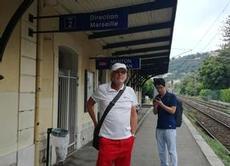 Vi tog tåget till Monaco