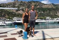 Ulrika och Joel och hundarna på La Vie