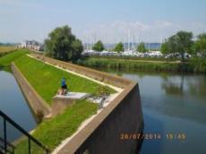 Den gamla muren i Willemstad