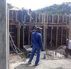 Hinkar med cement