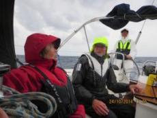 Fortfarande ganska måttlig vind och sjö