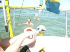 Petter och Kalle badade också