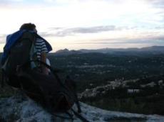 På berg ovanför Achillion