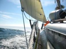 Segling längs norra Bretagne