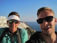 Joachim och Petter i Santorini