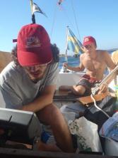 Jacob och Petter navigerar