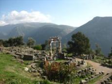 Delphi: Athenas tempel