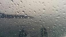 I skydd för regnet när vi lämnade Sanxenxo
