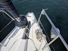 Medelhavstilläggning med rep från botten istället för ankare