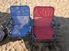 Utökat strandutrutningen med stolar