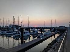Fin kväll med solnedgång i Chipiona