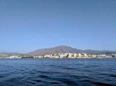 Hotellkomplex på rad utmed Costa del Sol-kusten
