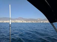 Den vackra kusten vid Torremolinos-Almunécar