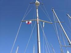 Besöksflaggan för Gibraltar hissad