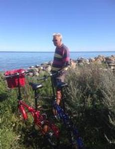 Cykeltur över Allvaret till utsidan