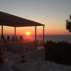 Solnedgång i från agios ioanis paxos