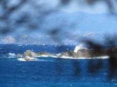 Blåsig mellan Korsika och Sardinien