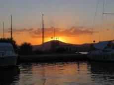 Solnedgång i Olbia