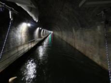 Inne i tunneln