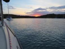 Solnedgång vid porto Palma