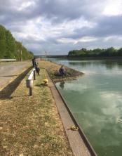 Övernattning i kanalkanten Wille pratar med en tysk fiskare