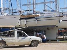 Ofelia på plats av servicemännen på marinan