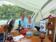 Jan och Eva i från båten Vilja
