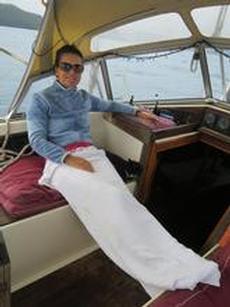 Anna-Karin fryser på väg till Bequia